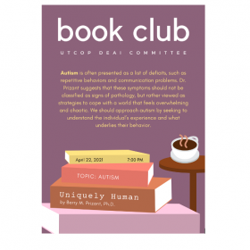 Flyer for Global Social Club book club event
